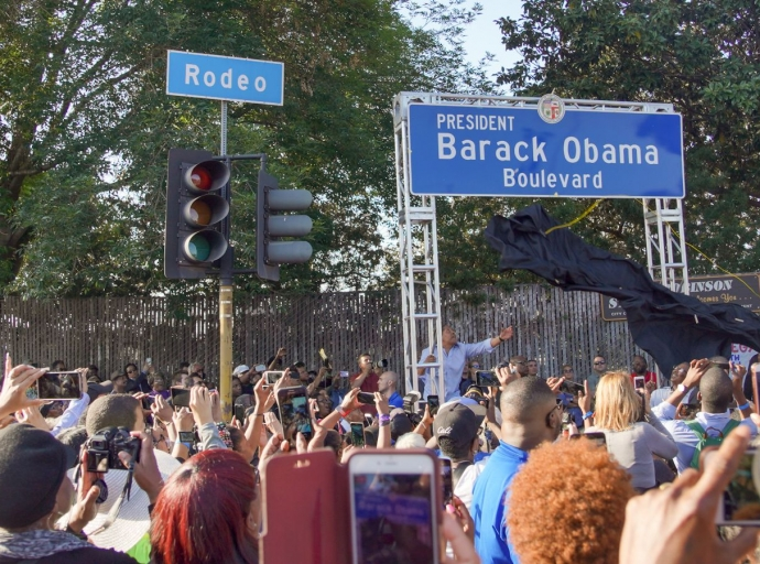 Obama Boulevard Naming Celebration